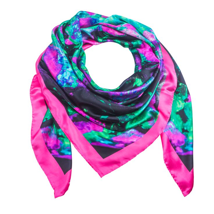 Indus Neo 3 - Pink Silk Scarf - Neo Collection – Silk and Stone