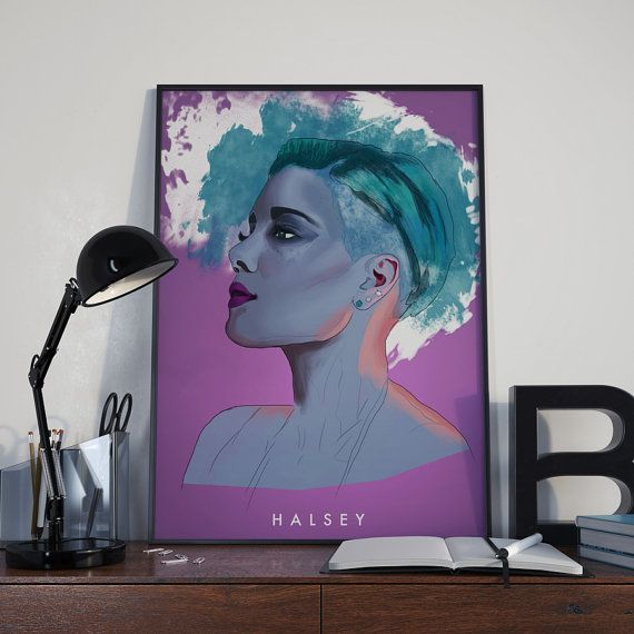 Halsey Poster from AshReynoldsDesign