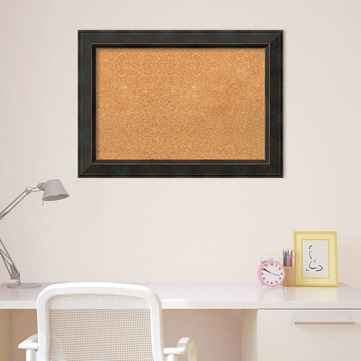 amanti art bronze finish framed cork board wall decor brown oth