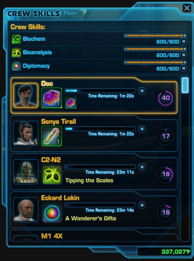 Swtor 6 0 Crafting And Crew Skills A Beginners Guide Beginners Guide Skills Beginners