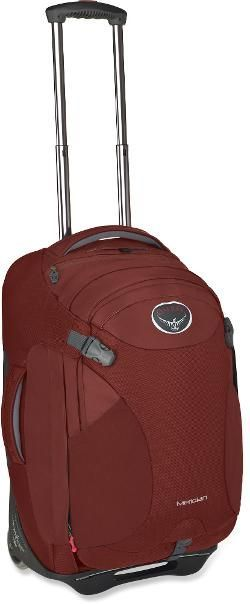 "Osprey Meridian Wheeled Convertible Luggage - 22"" Rusted Red"