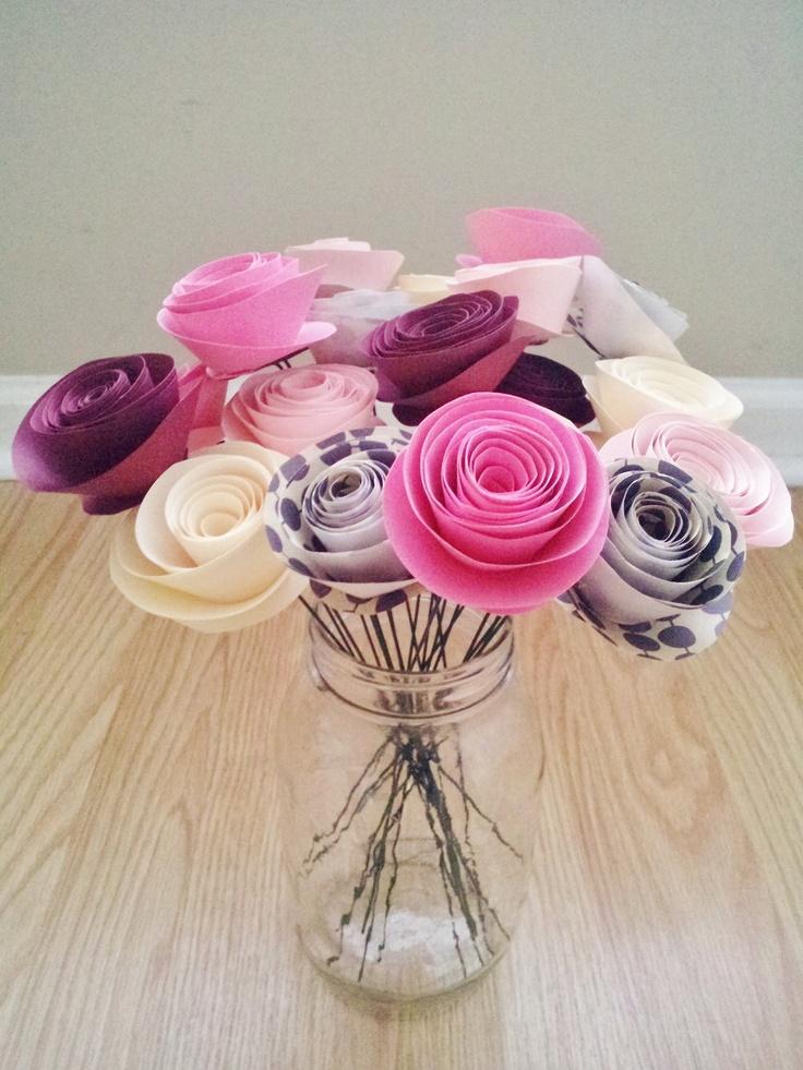 19 best rolled feltpaper flowers images on pinterest rolled paper rolled paper flowers mightylinksfo