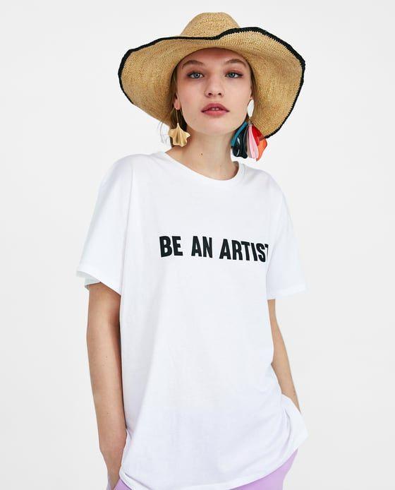 T-shirts et tops femme   Nouvelle Collection en ligne   ZARA France ... 3de8b3d950db