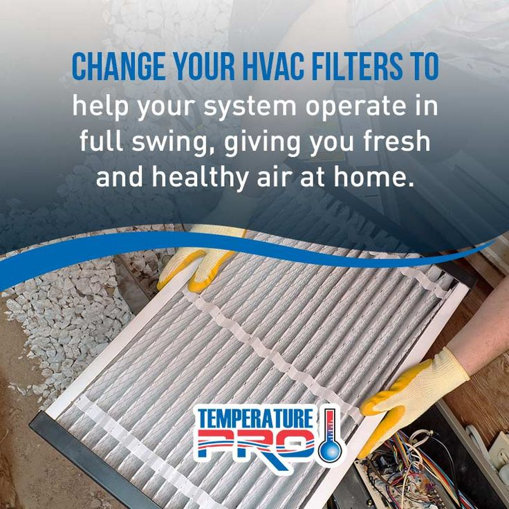 A clean filter keeps your furnaces internal components