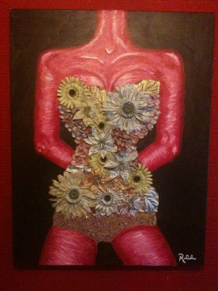 Vintage metallic canvas from the Headless Flower Collection. Former exhibition piece. Beautiful.