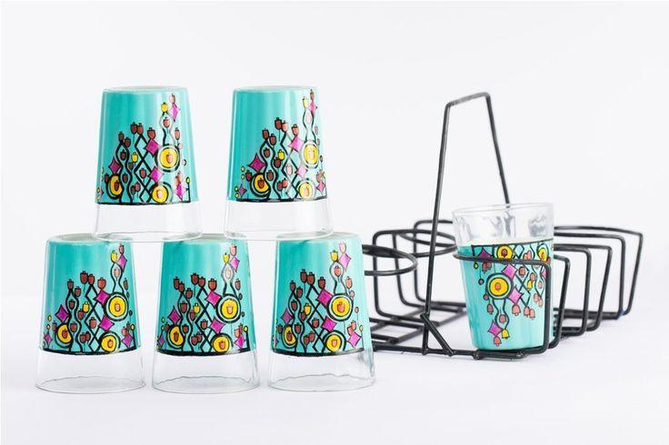 A Krazy Mug Windchime Theme Tapri Glasses #Windchime #theme #glasses #tea #handpainted #handmade #homeDecor #handcrafted #handmade