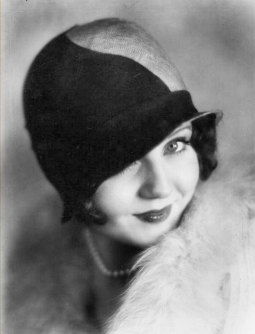 "Nancy Carroll  1920's.. was an American actress.(Irish parentage)She began her acting career in Broadway musicals, became a successful actress in ""talkies"" because her musical background...In spite of her ability to successfully tackle light comedies, tearful melodramas, and even musicals, and as well as garnering considerable praise by the critics and public (she received the most fan mail of any star in the early 30s.)"