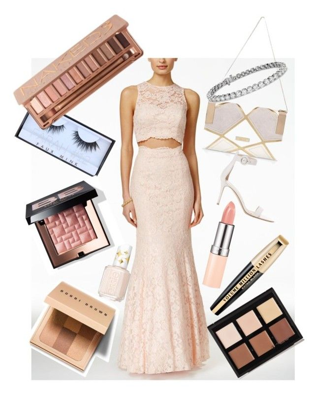 """⭐️⭐️"" by talia-123 on Polyvore featuring XSCAPE, L'Oréal Paris, Essie, River Island, Gianvito Rossi, Bobbi Brown Cosmetics, Huda Beauty, Urban Decay, Blue Nile and Anastasia Beverly Hills"