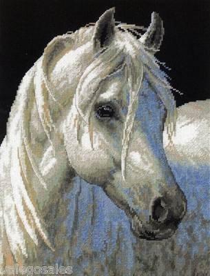 Dimensions #needlepoint Gentle Strength ♥ #whitehorse #portrait #mothersday #gift #decor #handcraft #handmade #DIY #project #needlework #stitching