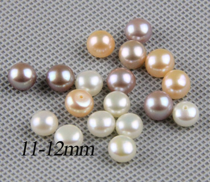 half drilled pearl pairls,11-12mm large pearl beads,big size freshwater pearl pair,white,pink,purple,jewelry material supply #Affiliate