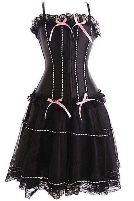 "BURLESQUE BOX® - Moulin Rouge Corset & Skirt Fancy Dress Outfit Costume High Quality Plus sizes to sz 32 (9xl 28-30 48-50 "" waist)"