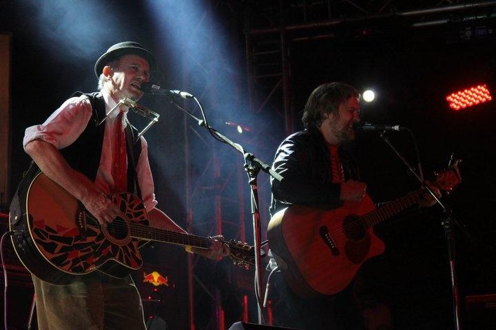 David Kramer and Francois van Coke on stage @ Oppikoppi 2011