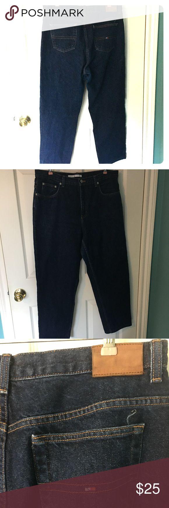 "Tommy Hilfiger Jeans 33 x 27.75"" Waist 16.5"" across. Inseam 27.75"", rise 12"". I can't tell if they're men's or women's so I'm listing as women's Tommy Hilfiger Jeans Straight Leg"