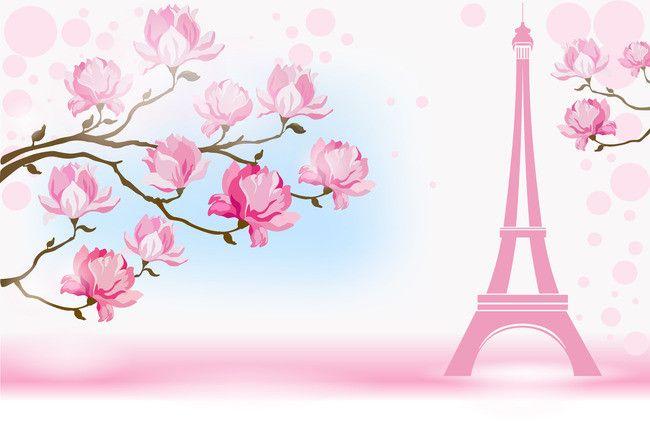 Flores Cor De Rosa Paris Cosm 233 Ticos Material De Fundo