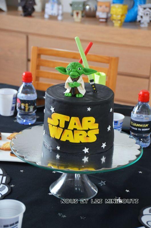 Organiser un Anniversaire StarWars - Le gâteau Yoda