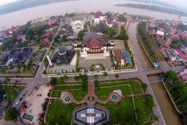 Tenggarong dari Udara, Kota Sejarah Indonesia Bermula