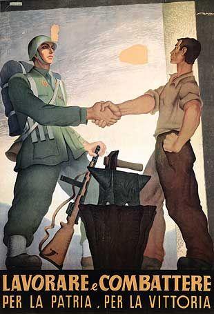 Soldado y obrero italiano