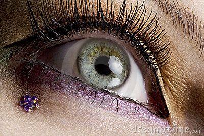 Close-up van oog met creatieve make-up