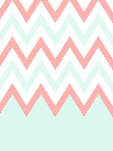 Mint And Coral Chevron Background 3371482_12001291_lz.jp...