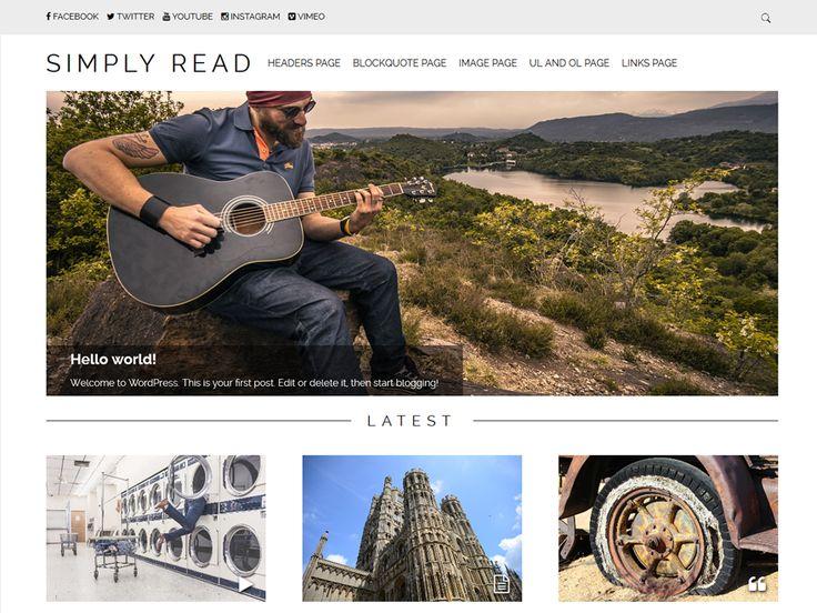 WordPress › Simply Read « Gratis WordPress Thema's