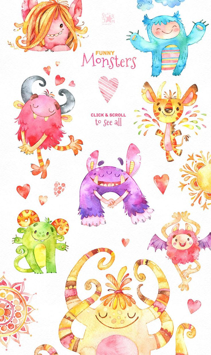 This Watercolor Collection of cute Creatures included Characters, Floral Elements, Branches, Flowers, Frames, Speech bubbles, Leaves and much more. This set is just what you needed for the perfect invitations, craft & DIY projects, paper products, party decorations, printable, greetings cards, posters, stationery, scrapbooking, stickers, t-shirts, baby clothes, web designs and much more.