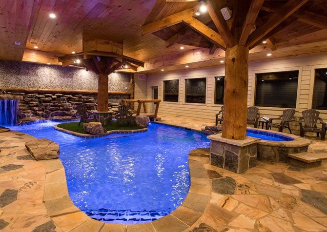 Eagle River Lodge Indoor Pool Tennessee Cabins Indoor Swimming Pools