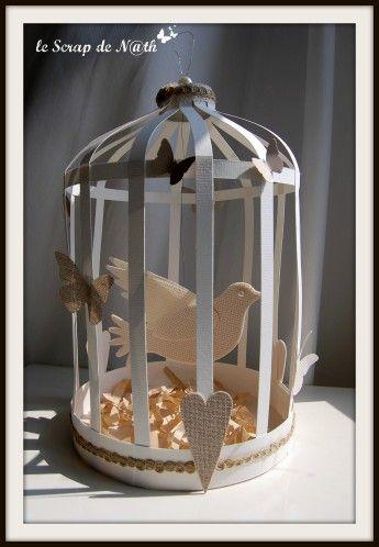 Tuto cage oiseau de N@th: 11-07-2012 http://lescrapdenath.fr/2012/07/tuto-de-la-cage-a-oiseau/