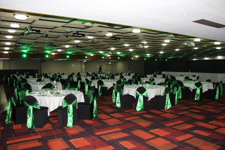 Awards Presentation Green & White - by Toowoomba White Wedding and Event Hire - Weddings, Corporate Functions, Parties, Gala Events {Toowoomba & Surrounding Areas}