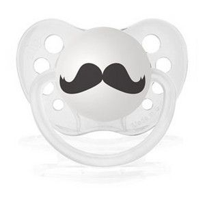 The Barber Mustache Pacifier