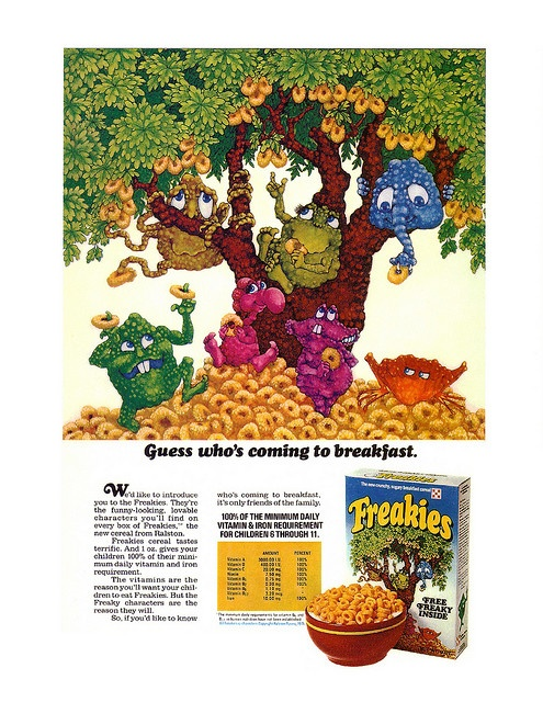 Vintage Ralston Freakies Cereal Magazine Ad by gregg_koenig, via Flickr