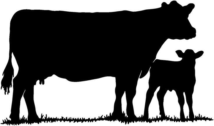 Cow With Calf Die-Cut Decal Car Window Wall Bumper Phone Laptop