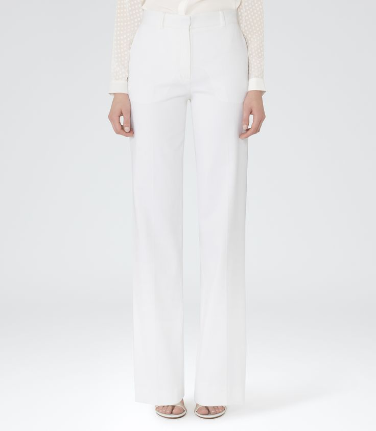 Womens Ivory Wide-leg Trousers - Reiss Sorrento