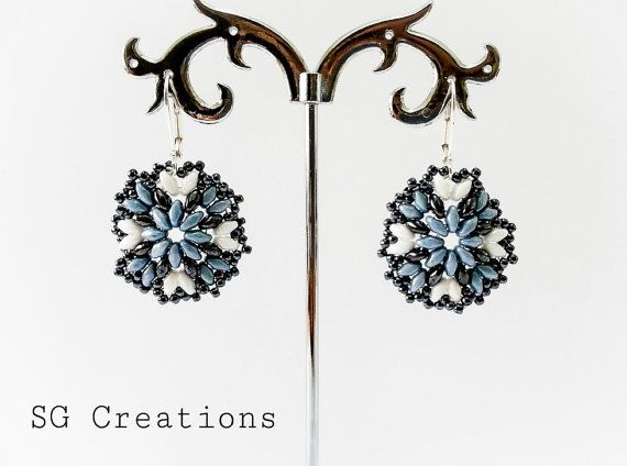 Handmade earrings with super duo and toho di SGCreationsAndArts