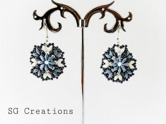 Handmade earrings with super duo and toho di SGCreationsAndArts