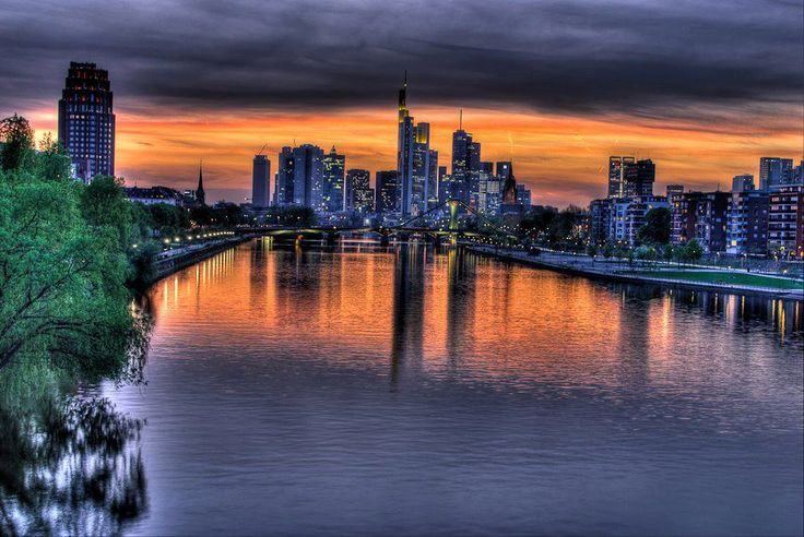 Frankfurt am Main - great post about F-furt: Cities, Posts, Aussicht Frankfurt, View, Sunrise Sunsets, Sunri Sunsets
