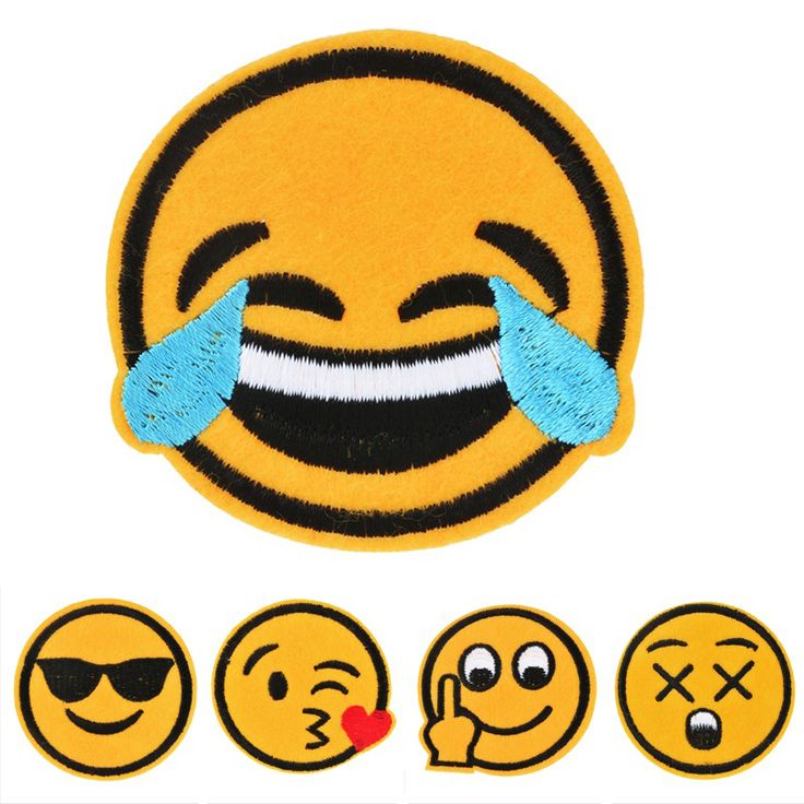 New 15PCs Embroidered Emoji Patch Iron-On Patches For Clothing Jeans Hat Stripes Stickers Patches For Clothes Applique