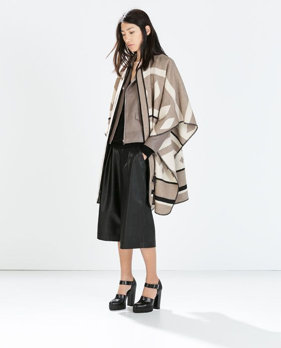Image 1 of PONCHO COAT from Zara