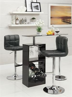 Black Revolving Bar Table Item #120451