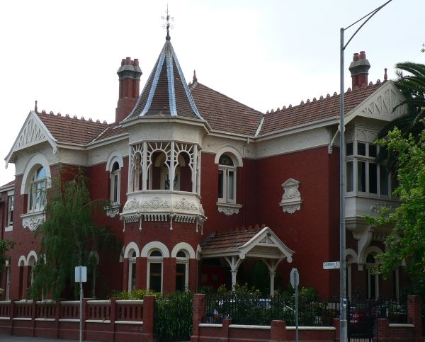 Federation Queen Anne style mansion in domain street south Yarra.