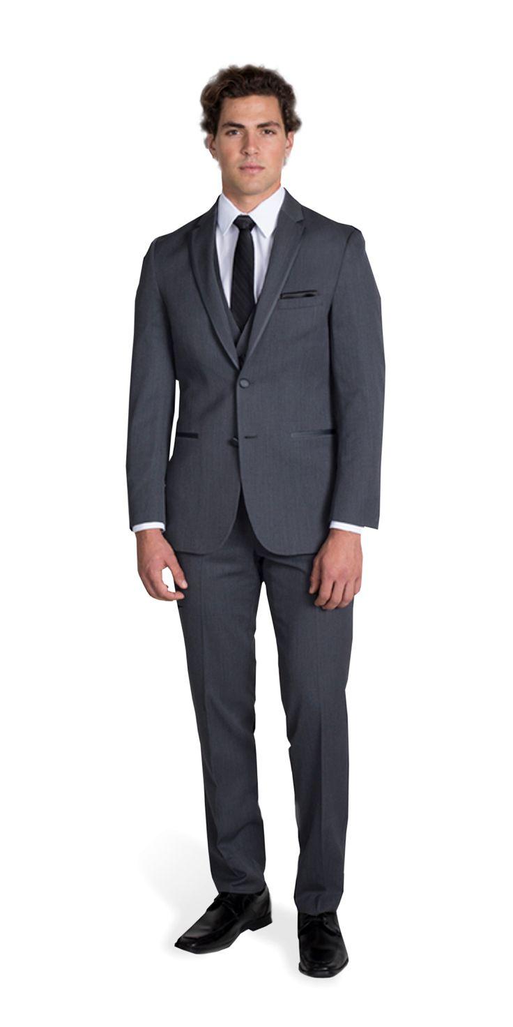 Charcoal Gray Michael Kors Notch Lapel Tuxedo