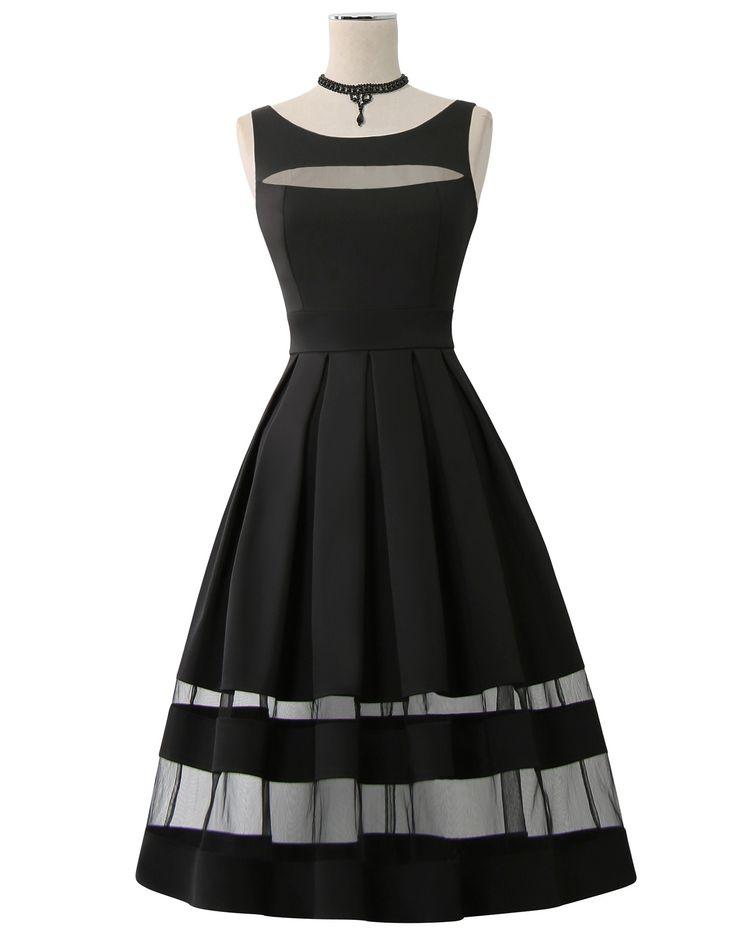 Kitten D'Amour: D'Amour Panel Dress (Black) -new vintage pinup rockabilly - black, transparent, gauze   Buy Recent Collections: http://www.kittendamour.com/brand_collections  Buy & Sell Old Collections: https://www.facebook.com/groups/1384135828515551/