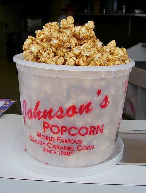 Johnson Caramel Popcorn... mmm Available on the Boardwalk in Wildwood NJ & some Hallmark Stores....
