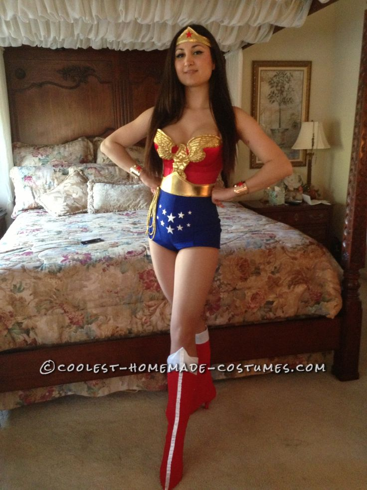 Great Homemade Wonder Woman Costume... This website is the Pinterest of costumes