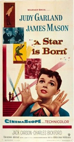 "cinemascope movies 1954 | ""A Star is Born"" starring James Mason and Judy Garland"
