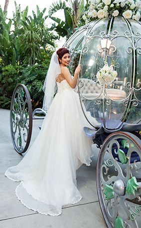 This Disneyland bride journeyed to her happily ever after in Cinderella's Coach
