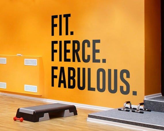 Fitness Gym Decals Exercise Stickers Home Gym Gym Wall Etsy Gym Wall Decal Gym Wall Decor Gym Wall Quotes