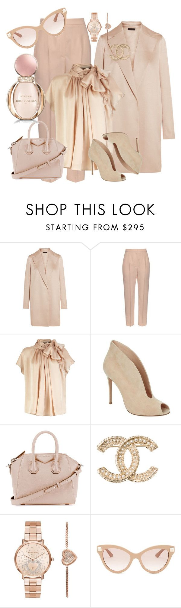 """""""COLOR OF FASHION   *148"""" by justalittlestar ❤ liked on Polyvore featuring The Row, Alexander McQueen, Gianvito Rossi, Givenchy, Chanel, Michael Kors, Valentino and Bulgari"""