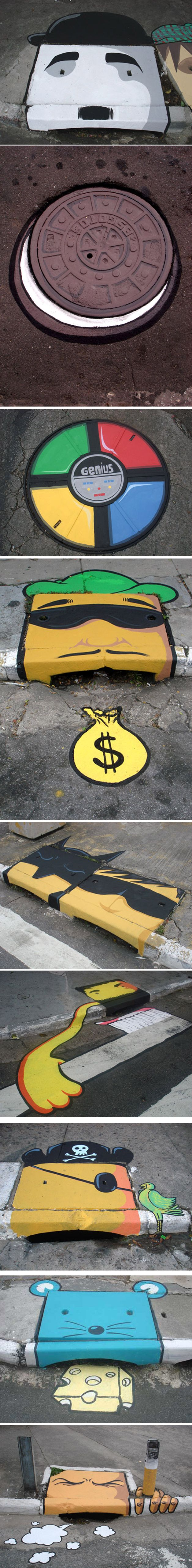 Street art in Street Gutters #1 – Inspirational Post 7 Street Art Graffiti For t… – Anthony Pillos