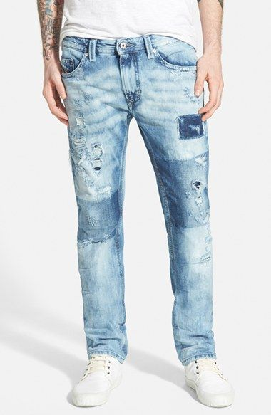 DIESEL® 'Thavar' Skinny Fit Jeans (0840S) available at #Nordstrom