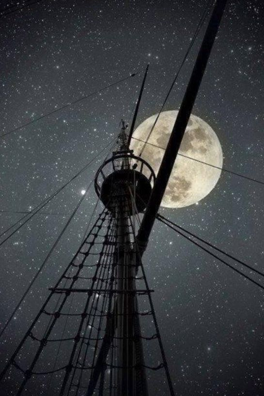Looks like you could touch the moon from the crows nest. -